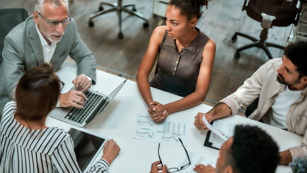 blog image - digital strategy - team working together