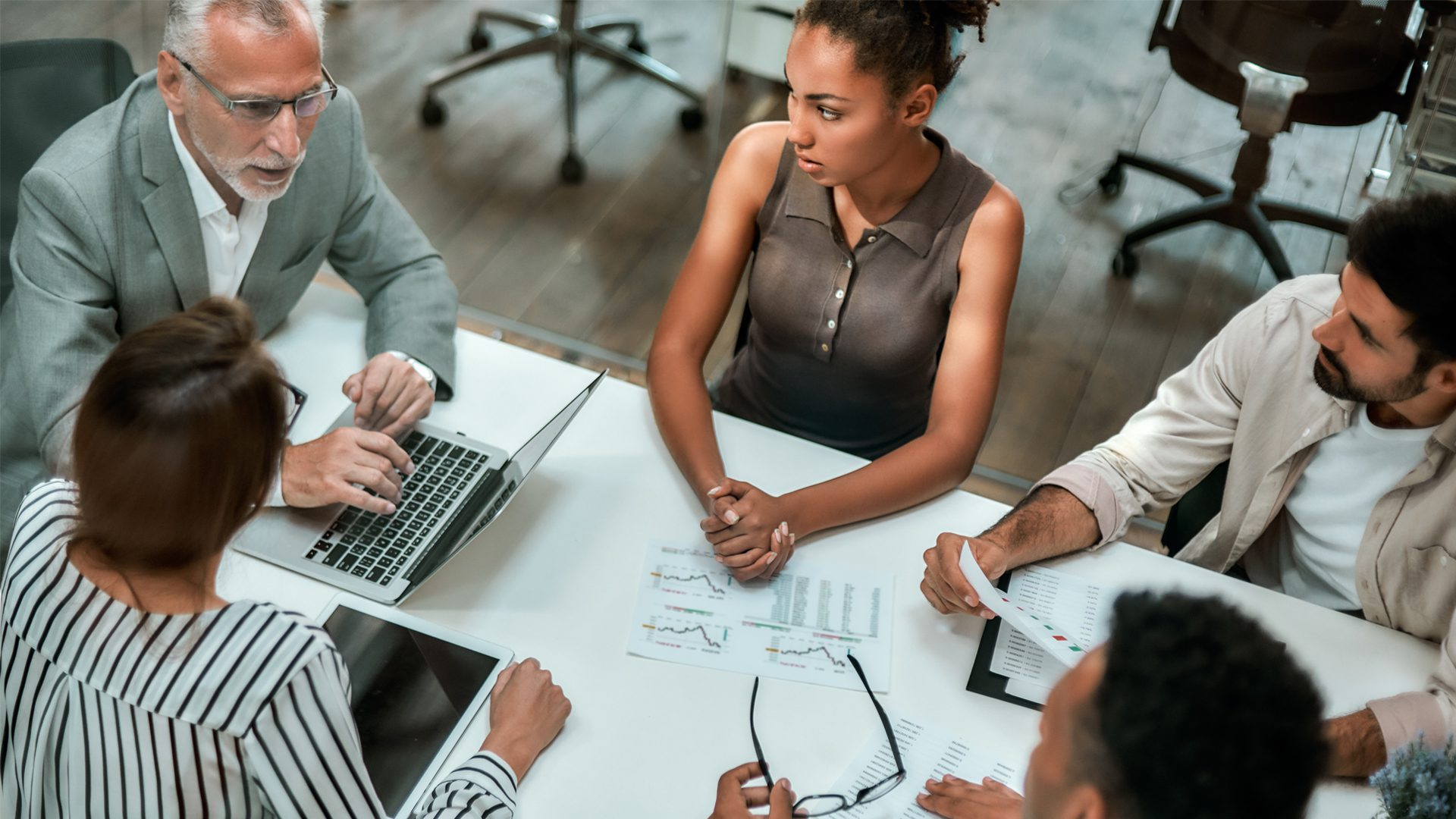blog image - digital strategy - multicultural team discussing business