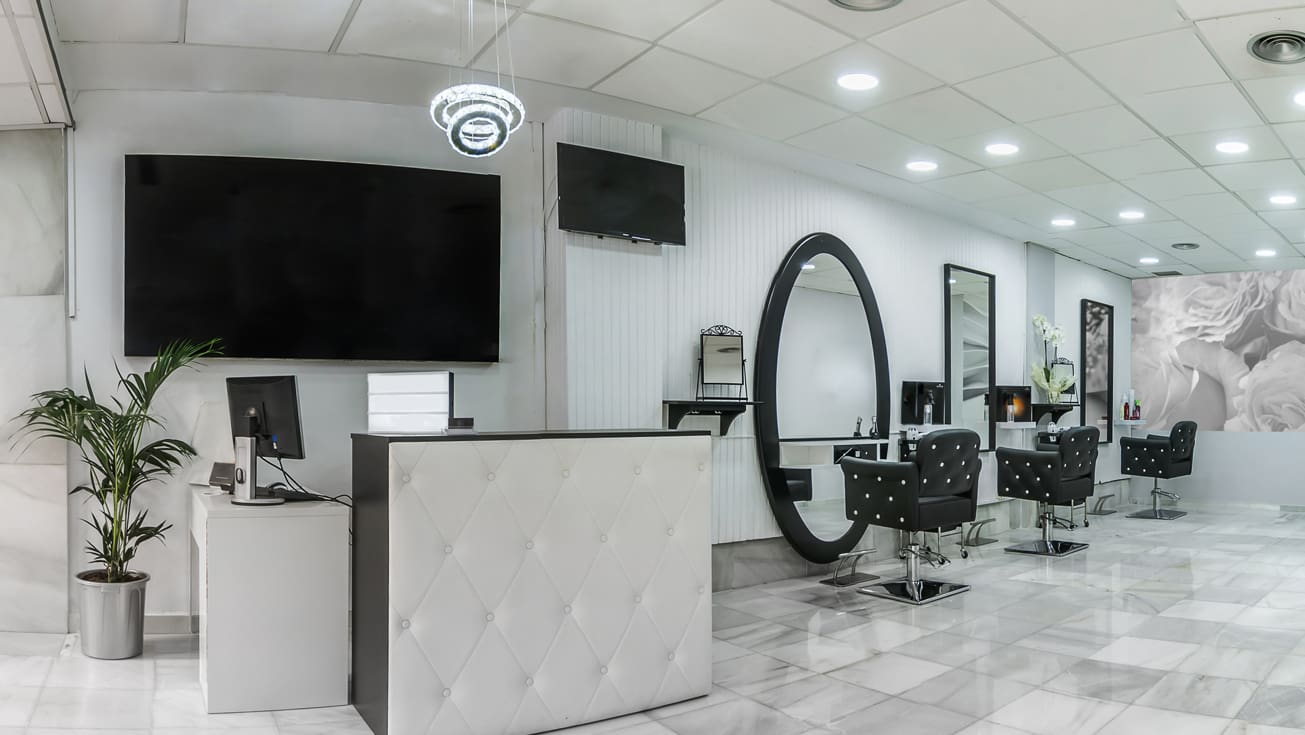 upscale hair salon